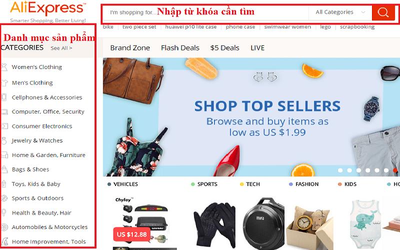 mua hang online tren cac trang web trung quoc