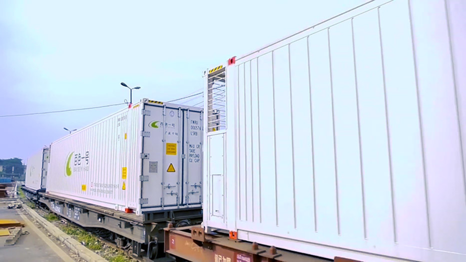 Vận chuyển container lạnh bằng đường sắt tuyến Bắc Nam