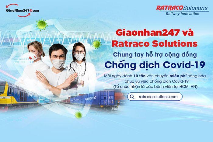 Giaonhan247 phối hợp Ratraco Solutions chung tay đẩy lùi dịch Covid-19