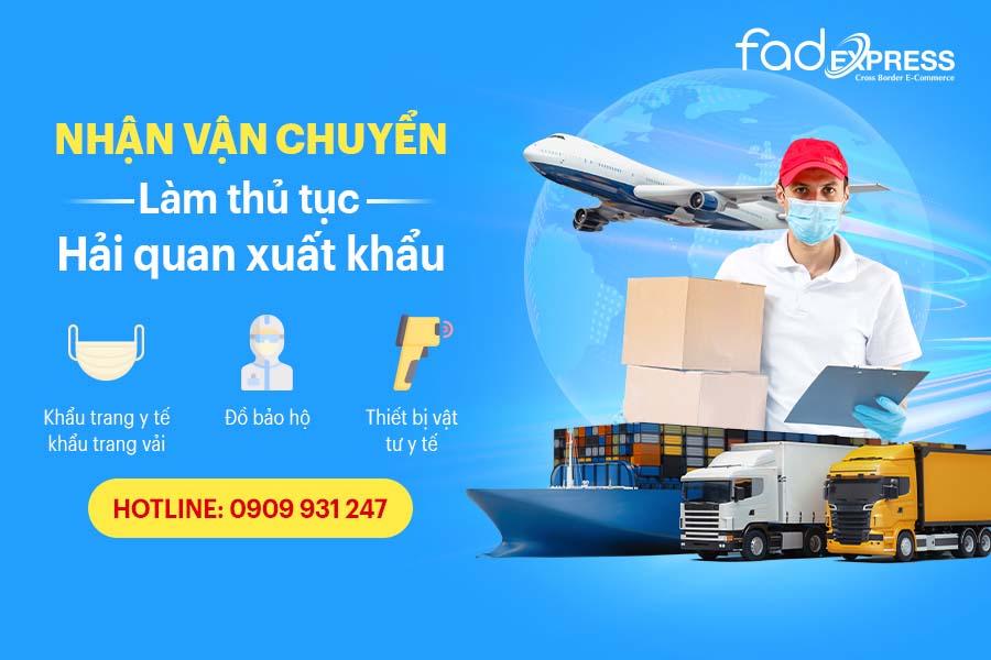 Xuất khẩu khẩu trang, trang thiết bị vật tư y tế