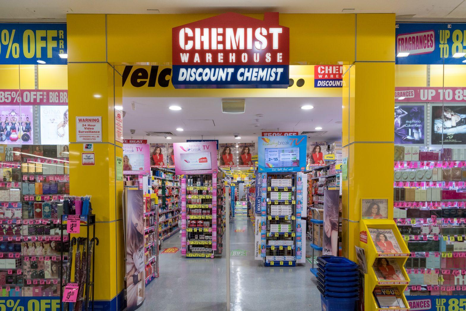 Chemist Warehouse cung cap da dang hang hoa