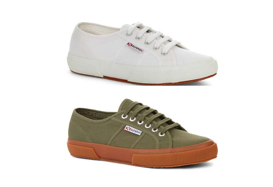 Superga Mens Superga 2750 Cotu Classic Plimsoll Lace Up Canvas Casual Sneakers