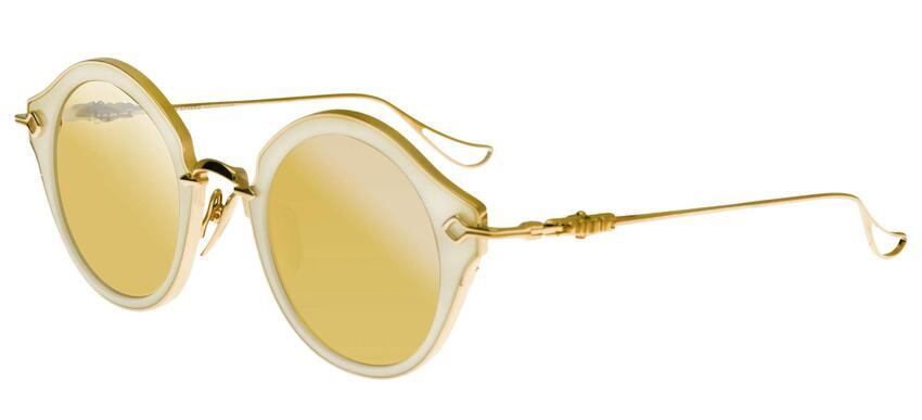 Chrome Hearts BELLA Pearled White Rose Gold Sunglasses