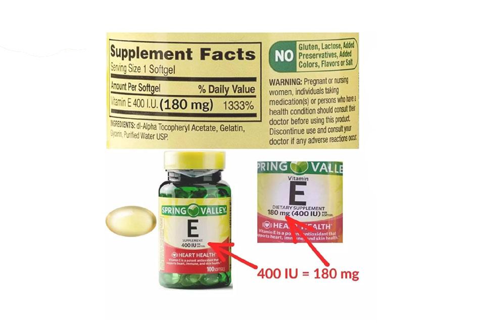 thanh phan tu nhien cua Thành phần tự nhiên của Vitamin E Spring Valley