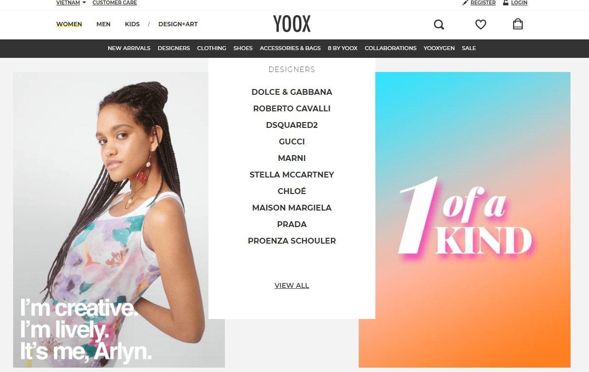 yoox trang ban thôi trang truc tuyen lon nhat the gioi