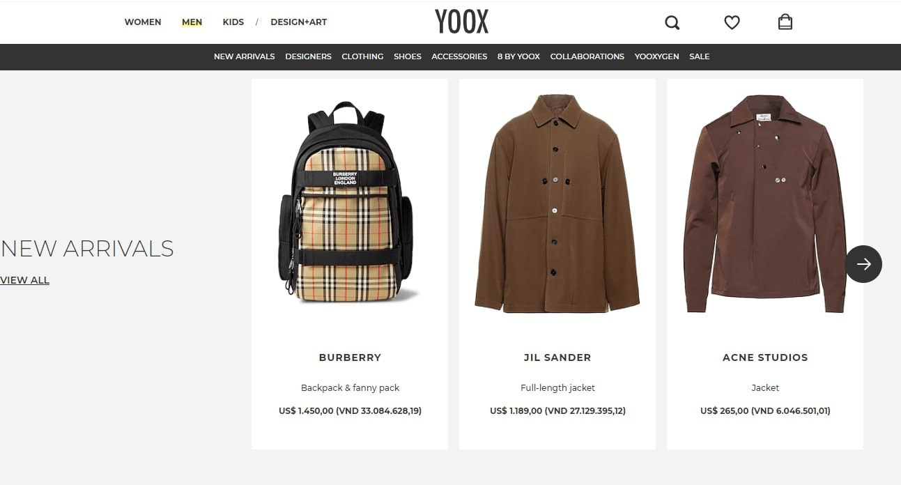 item cho phai nam ten yoox
